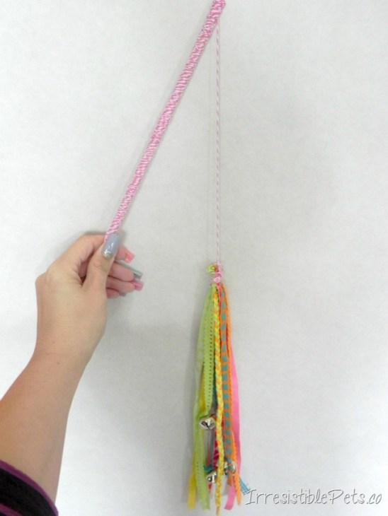 Homemade cat toys DIY cat wand