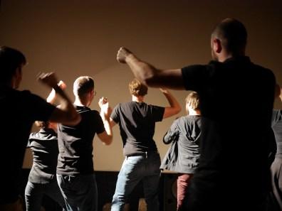 Group dance, backside edition.