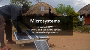 Electricity Microsystems for Africa