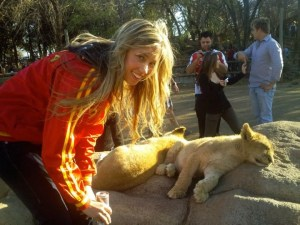 Play with a lion....Check!
