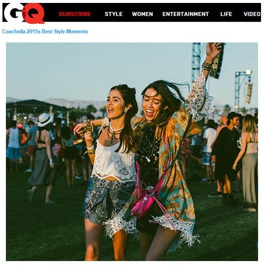 GQ Coachella, thania peck, paola alberdi, catcher in the style