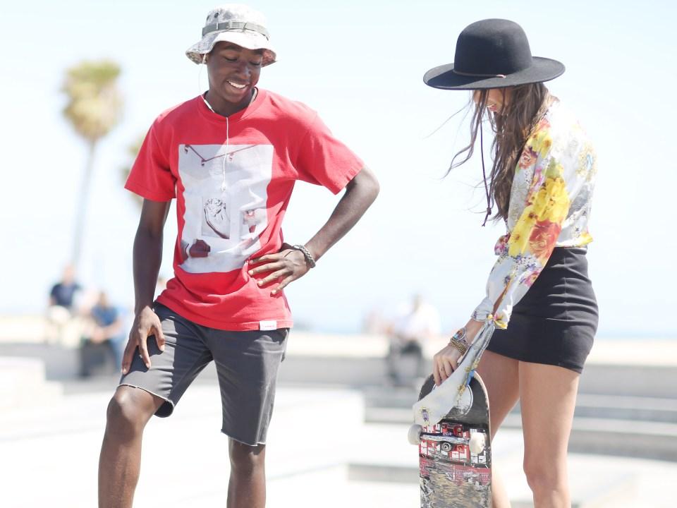 Venice Skate Park in Roberto Cavalli