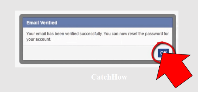 email verifed facebook password reset