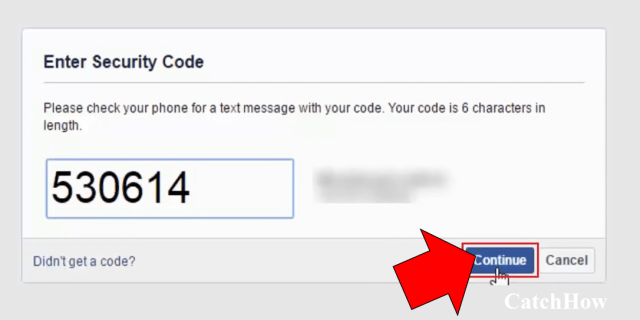 facebook password reset security code