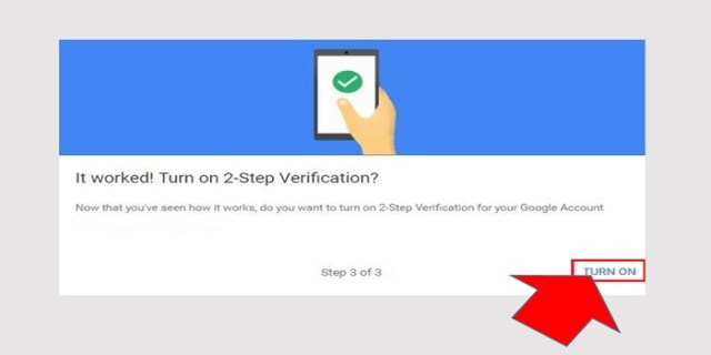 turn on google 2 step verification