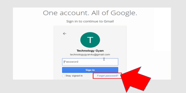 gmail forgot password