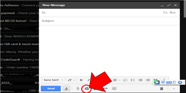 google drive file attach