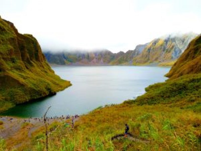 picture perfect view of mount pinatubo