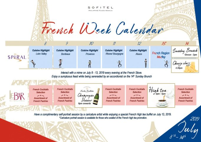 Sofitel Manila French Week Calendar