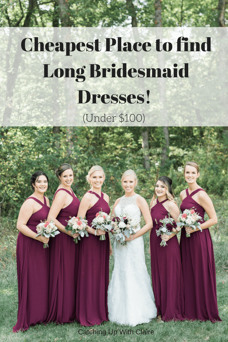 Cheapest Place to Buy Your Bridesmaid's Dresses - under $100