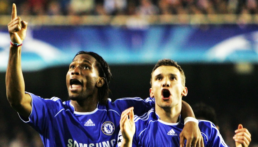 Didier Drogba is one of the players standing in the way of a happy Chelsea return for Shevchenko...