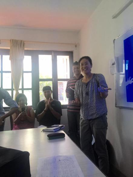 Keya Lea Horiuchi sharing her experience