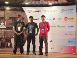 Founding Members of WordPress Nepal (L-R): Ujwal Thapa, Sakin Shrestha, and Chandra Maharzan