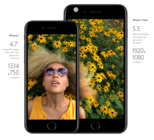 iPhone 7 & 7 Plus: Screen Size & Resolution. Image Credit: Apple
