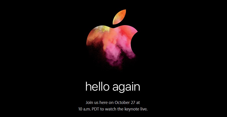 Apple's 'Hello Again' Mac Event Confirmed for October 27, 2016