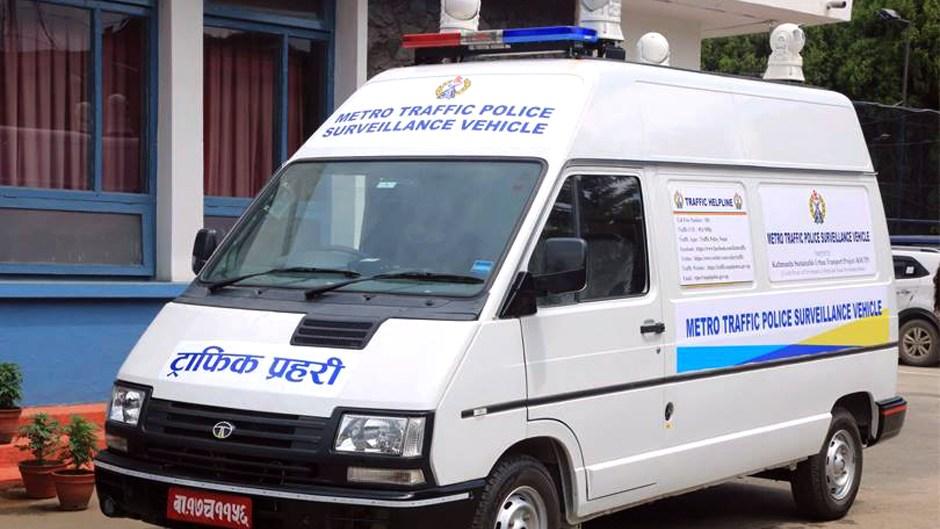 Smart Surveillance Vans in Kathmandu Valley. Image Credit: Facebook