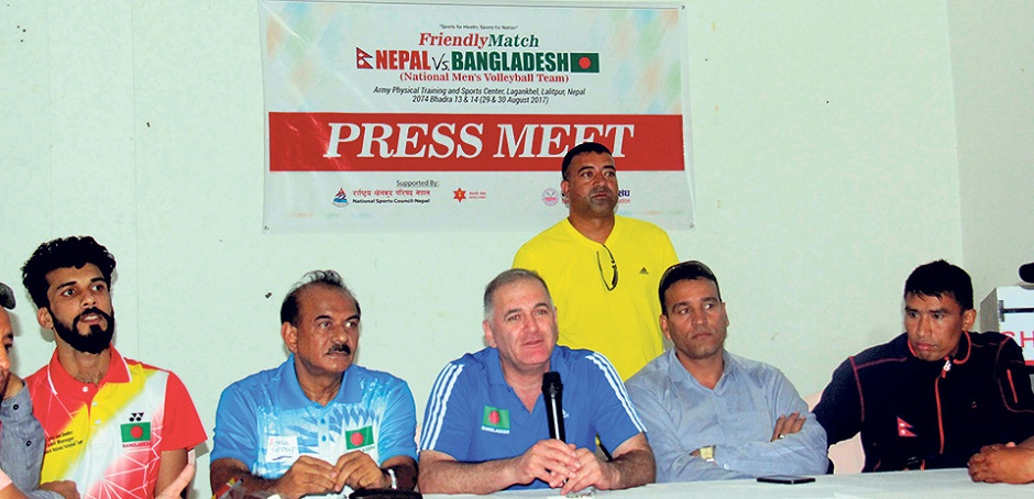 Nepal Is Going to Face Bangladesh in Volleyball Friendly Matches. Image Source: Myrepublica
