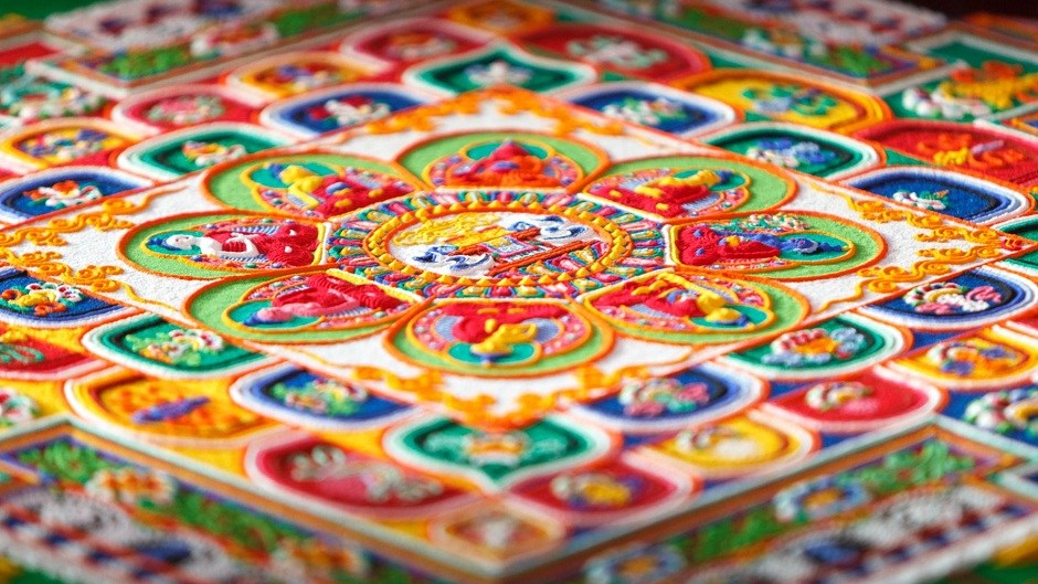 Sand Mandalas Are Meant To Be Destroyed. Image Source: Pembe Sakuram