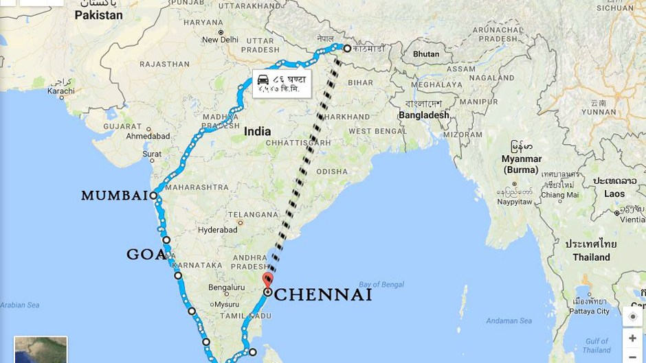 Kathmandu to Kanyakumari (K2K) Ride. Image Source: Facebook