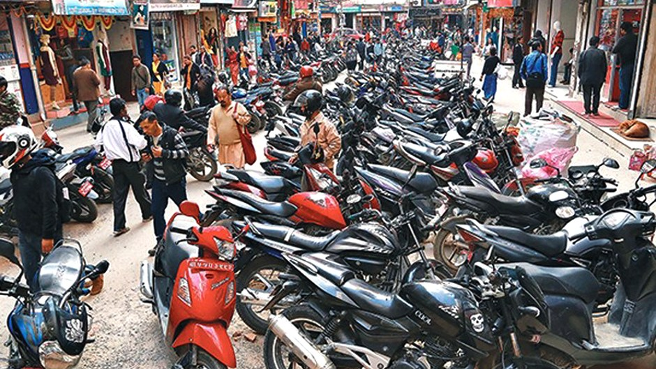 KMC Seeking Parking Options to Address Road Traffic Congestion . image Credit: NEws24nepal
