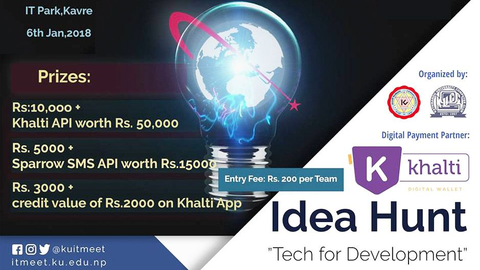 Idea Hunt Competition—Platform to Pitch Innovative Tech Ideas. Image Source: Facebook