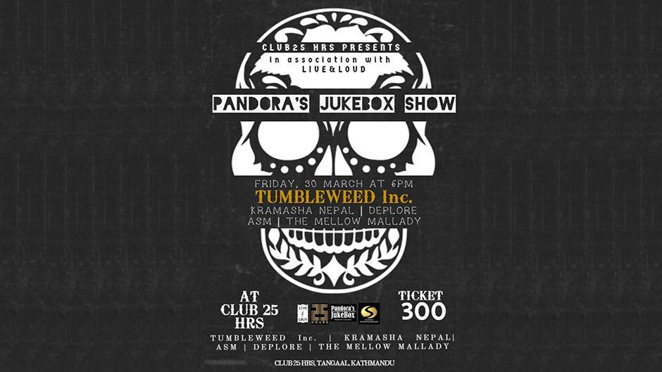 PANDORA'S Jukebox SHOW | Live&Loud | Second Edition. Image Source: Facebook