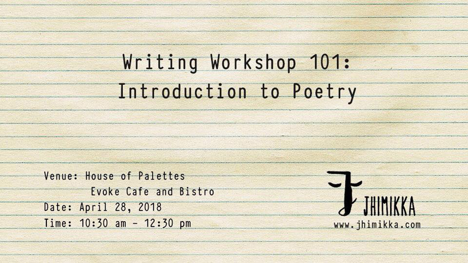 Introduction to Poetry | Writing Workshop 101. Image Source: Facebook