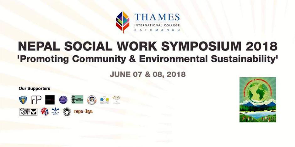 Nepal Social Work Symposium 2018 | Promoting Community & Environmental Sustainability. Image Source: Facebook