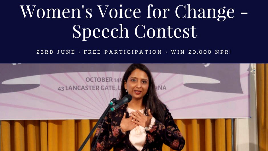 Women's Voice for Change | Speech Contest. Image Source: THNA