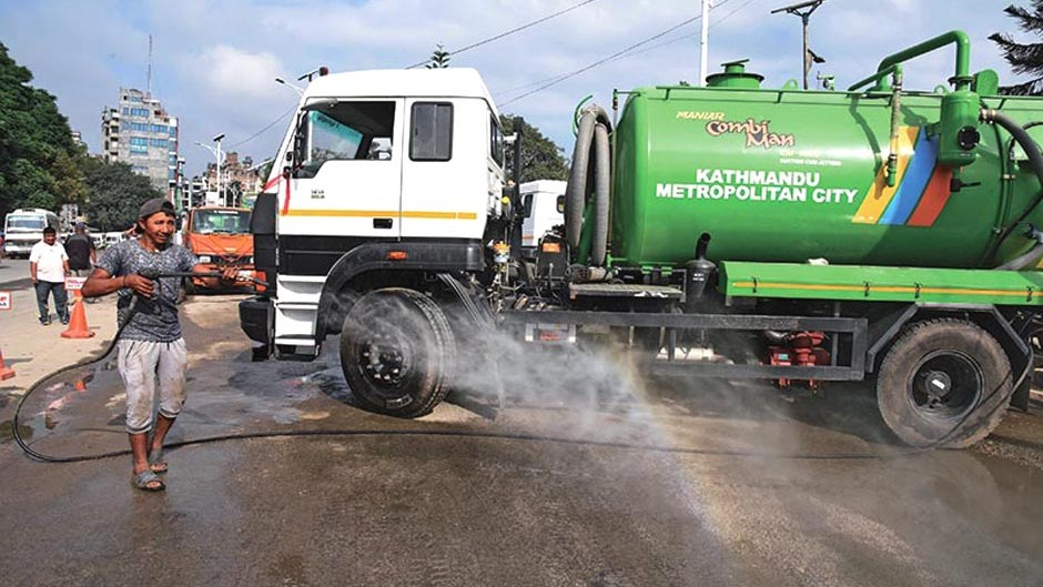 Five New Jet Machines Added to Clean Roads | Kathmandu Metropolitan City. Image Source: The Himalayan Times