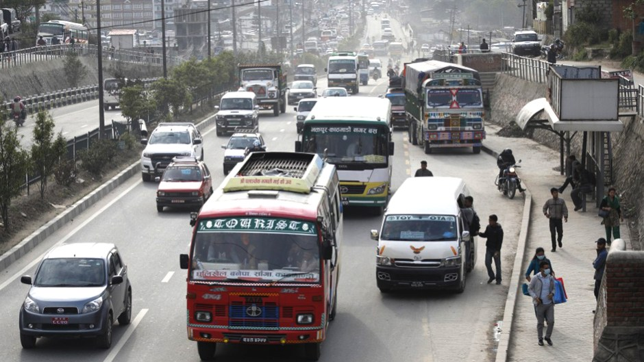 new routes for public vehicles in kathmandu