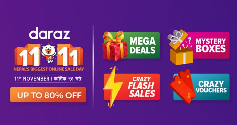 Daraz 11.11, Nepal's Biggest Online Sale Day. Image Source: Daraz