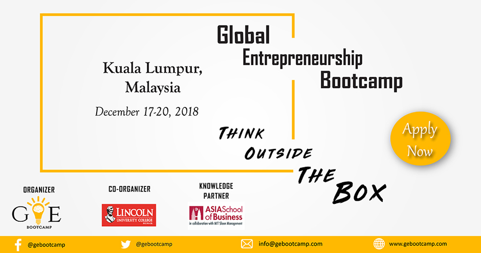 Global Entrepreneurship Bootcamp 2018 | GEB. Image Source: Google
