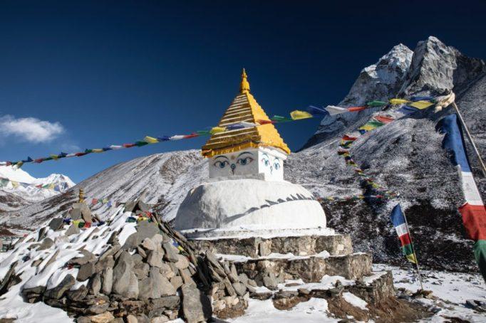 Tibetan Buddhist Stupa, Dingboche, Nepal