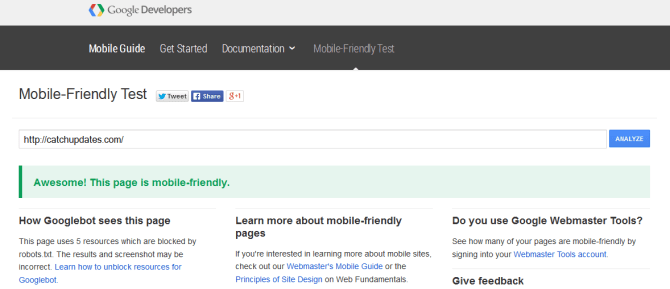 How to make website mobile friendly after image