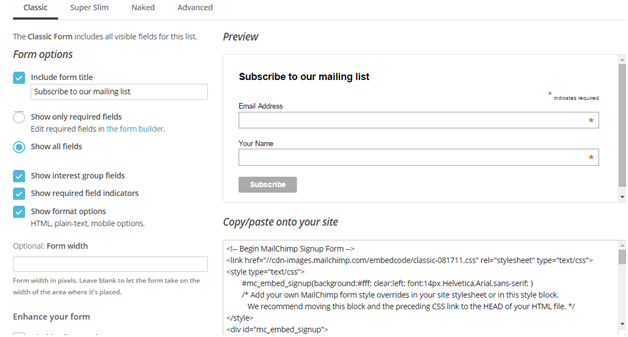 How To Configure genesis enews extended widget with mailchimp_3