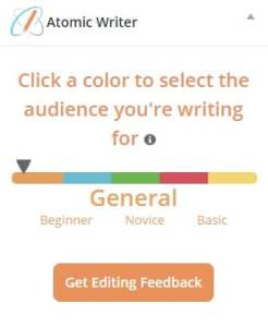 AtomicWriter : A Writing & Editing Tool By Atomic Reach