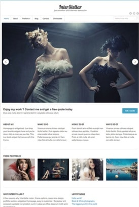 Interstellar - Best Free WordPress Themes