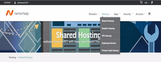 NameCheap discount coupon - Hosting Plans