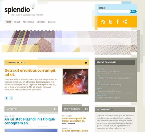Splendio - Best Free WordPress Themes