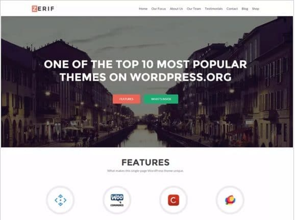 Zerif Lite - Best Free WordPress Themes