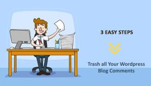 delete all comments from your wordpress blog