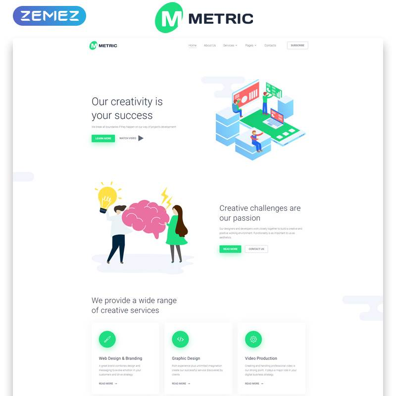Metric Multipage HTML Template