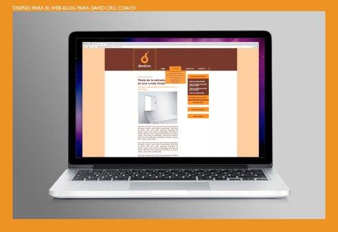 Diseño web David Cru. Diseño para el website-blog de David Cru Coach. Web design for David Cru Coach website and blog.