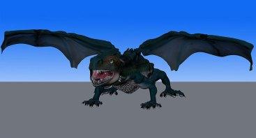 A 3D illustration of a dragon.