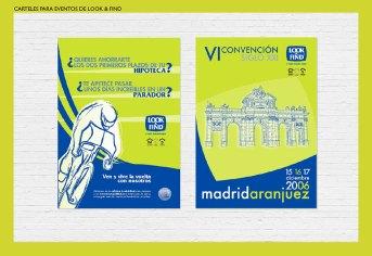 Carteles para Look & Find. Publicidad eventos de Look & Find. Vuelta Ciclista a España. VI Convención Siglo XXI. Look & Find posters. Special events.