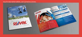 Folleto Por Qué ReMax ahora. Promoción diseñada para la red inmobiliaria REMAX. Promotional brochure for Real Estate REMAX.
