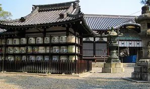 御香宮神社の枝垂桜がかわいかった