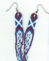 delicate X-O-X designed earrings
