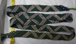 """Green Lightning"" - Medium-wide, hand-woven"